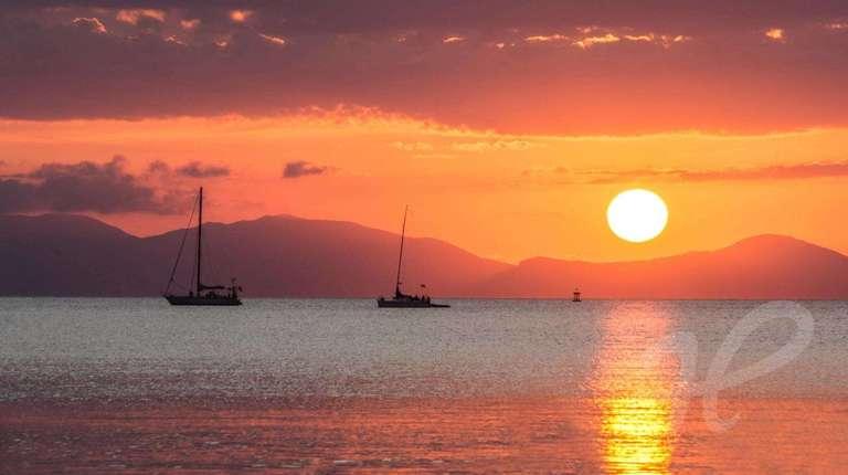 Sonnenuntergang über Elba