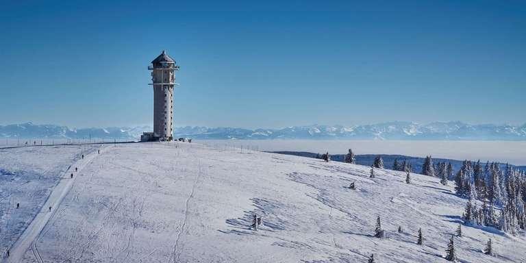 Feldbergturm mit Alpen