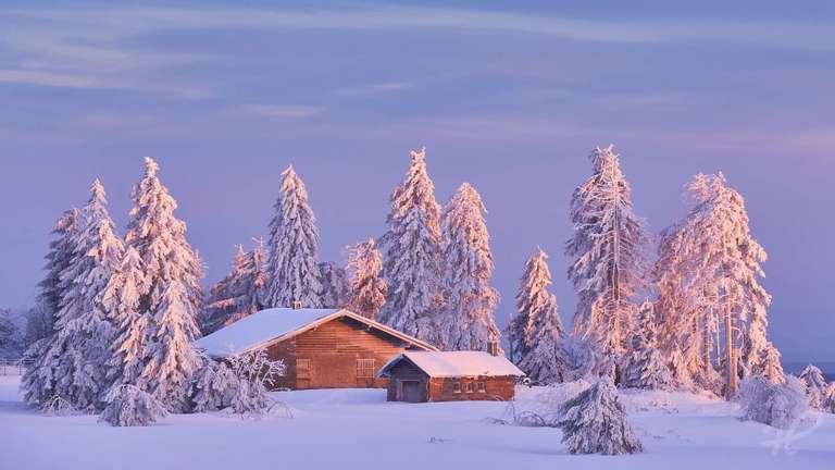 Abendlicht im Winter auf der Grinde