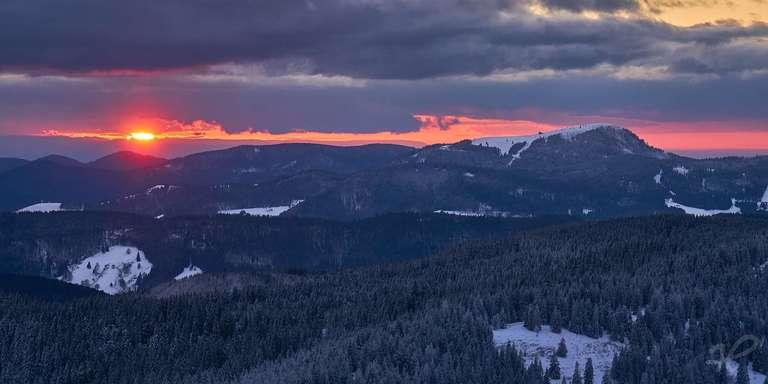 Sonnenuntergang über dem Südschwarzwald