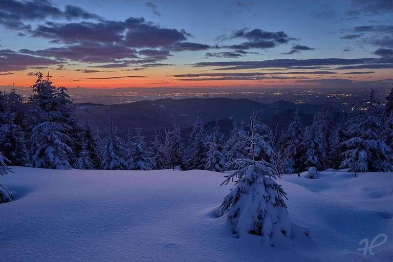1000m Weg im Winter