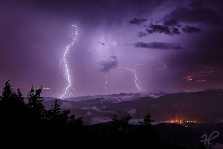 Blitze im Kinzigtal