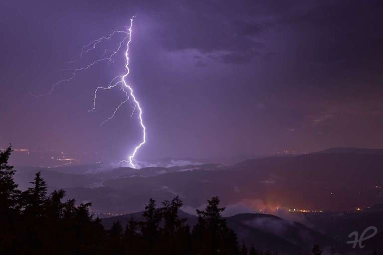 Blitz im Kinzigtal