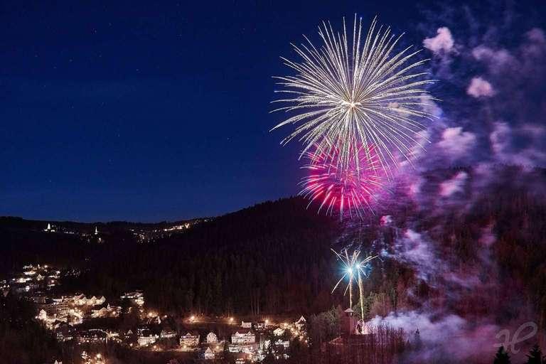 Feuerwerk in Triberg