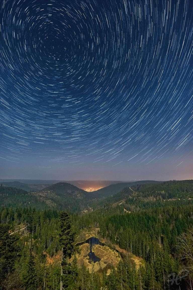Sternspuren über dem Ellbachsee