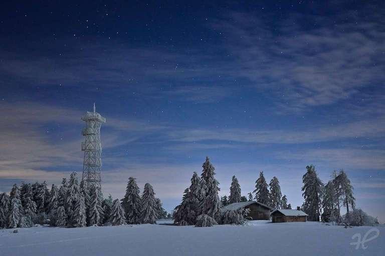 Winternacht auf der Hornisgrinde