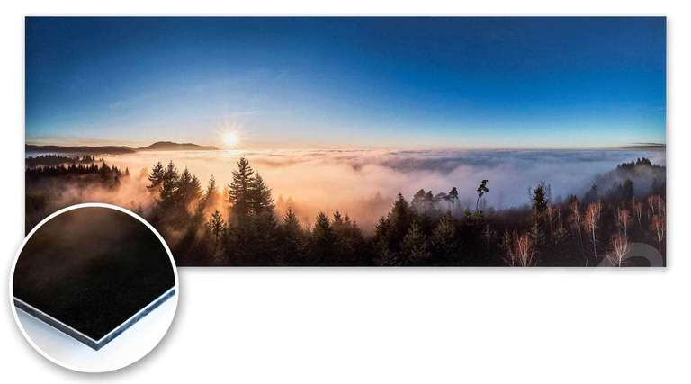 Unsere Heimatfotos Druckprodukte: Fine Art Druck oder Druck auf Fotopapier, kaschiert auf Alu-Dibond, geschützt durch eine Schutzfolie. Eine der fotografisch schönsten und hochwertigsten Varianten ein Wandbild umzusetzten