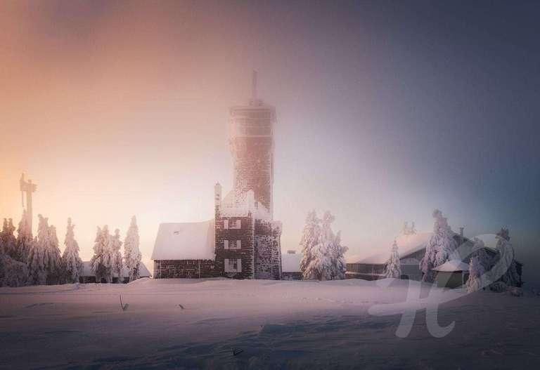 Winterromantik auf der Hornisgrinde