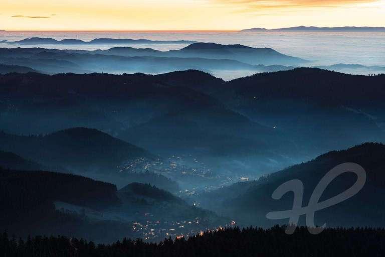 Hornisgrinde mit Blick ins Rheintal