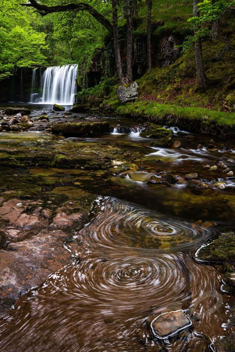 Wasserfall in den Brecon Beacons