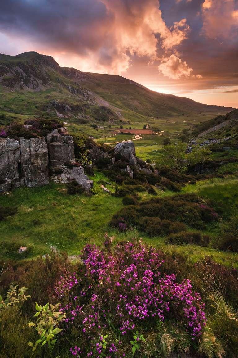 Sonnenuntergang in Snowdonia