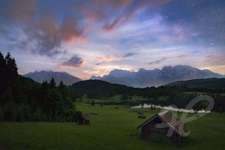 Mondaufgang hinter dem Karwendel