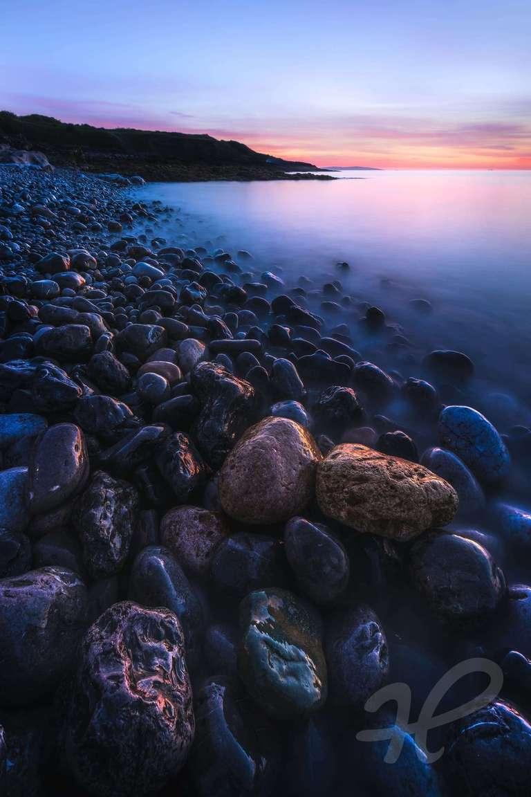 Abendleuchten an der Küste