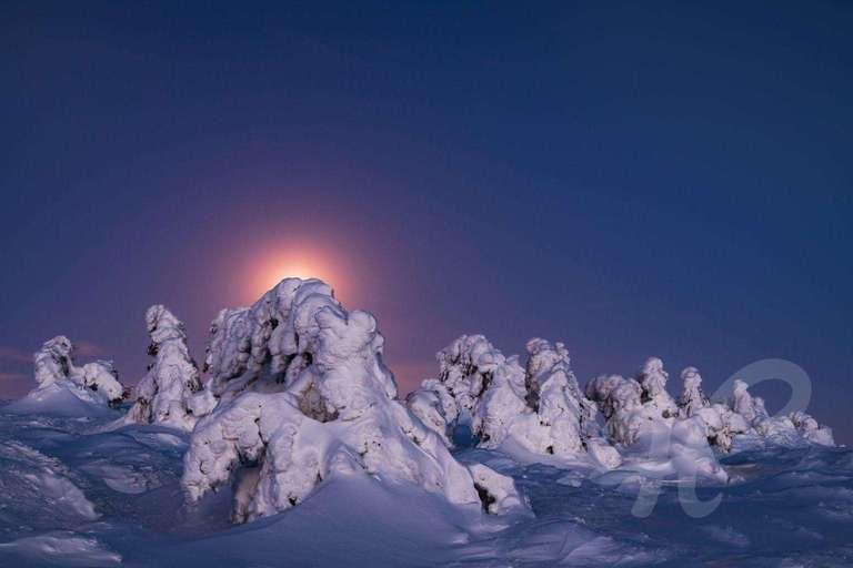 Mondaufgang auf dem Brocken