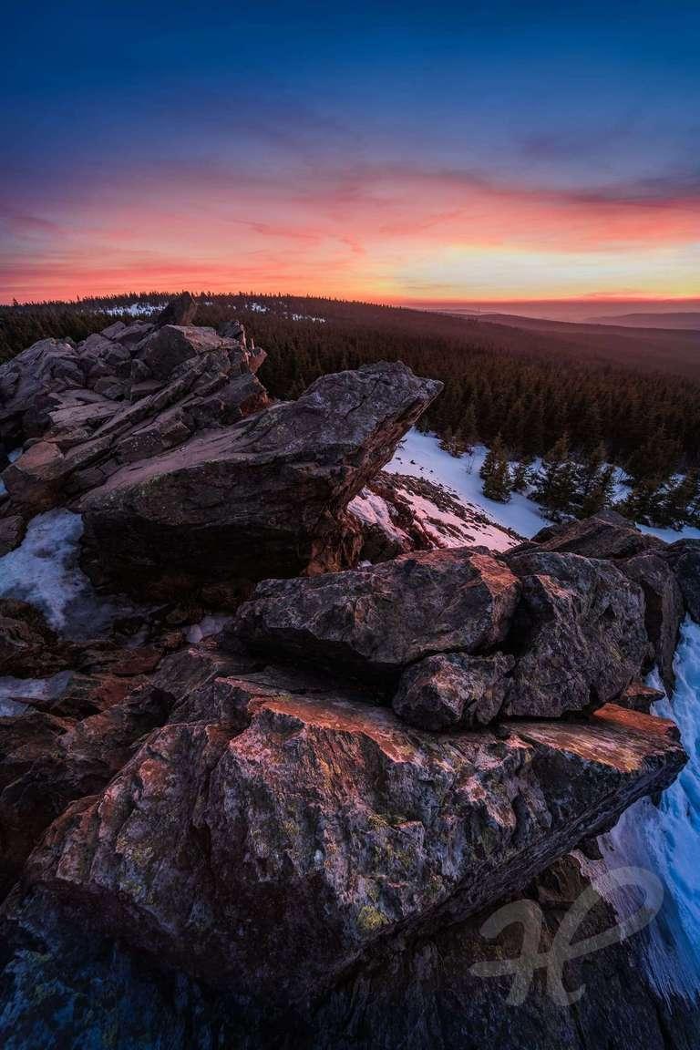 Sonnenuntergang auf der Wolfswarte