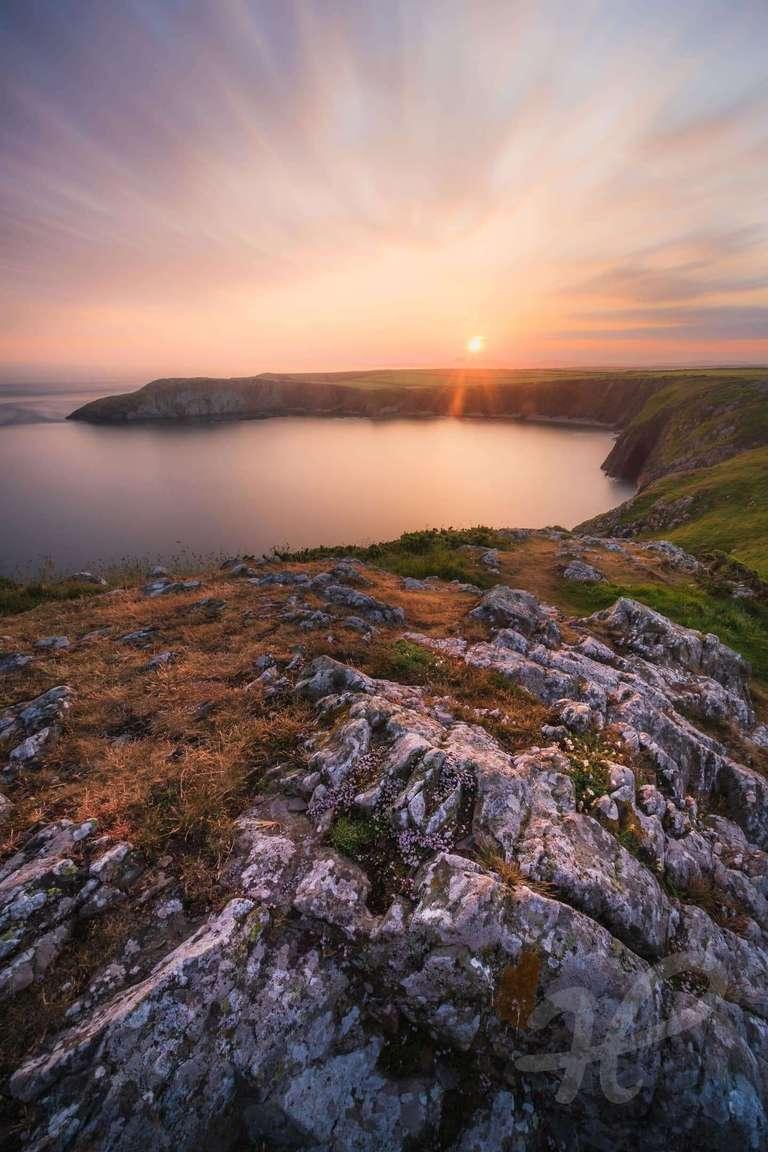 Sonnenaufgang in Pembrokeshire