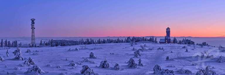Winterpanorama der Hornisgrinde