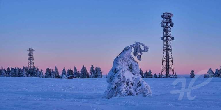 Funktürme im Winter