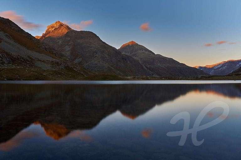 Alpenglühen auf dem Julierpass