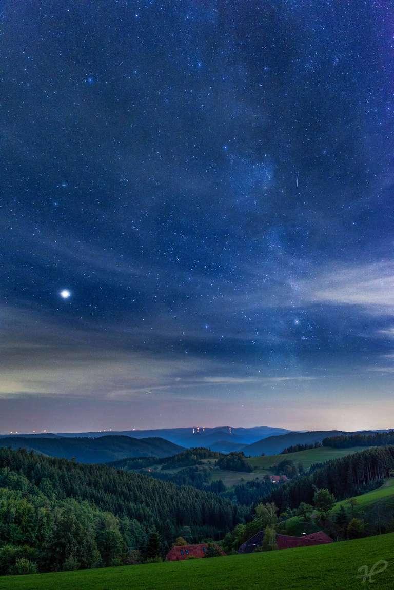 Milchstraße über dem Wolftal