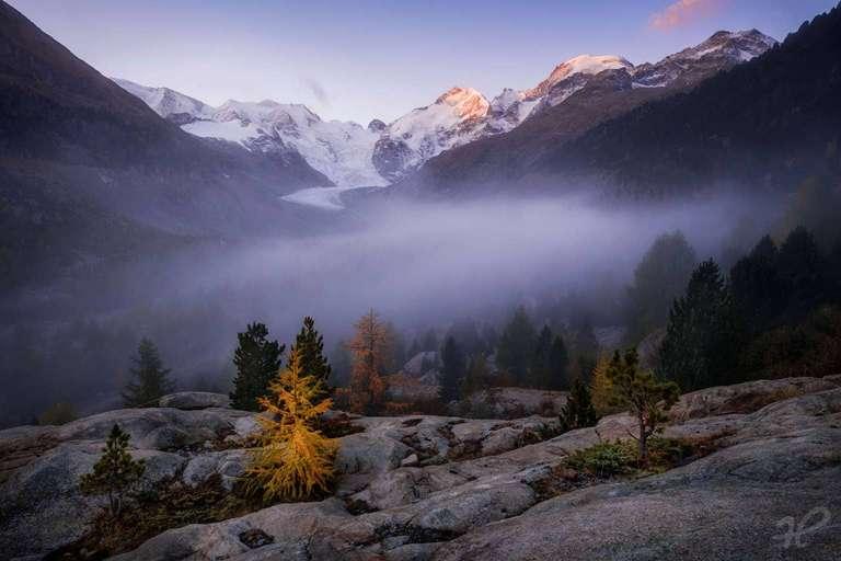 Herbstmorgen in Graubünden