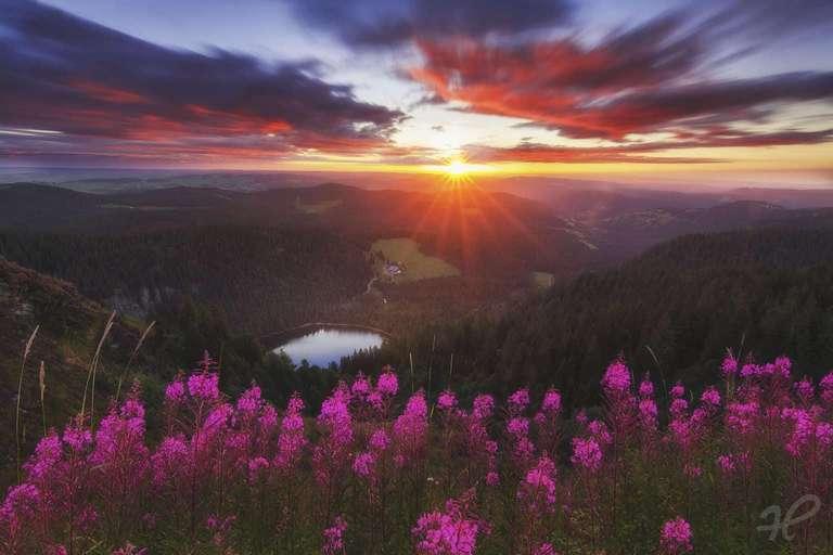 Sonnenaufgang auf dem Feldberg im Schwarzwald