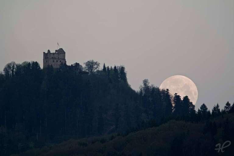 Geroldseck Monduntergang