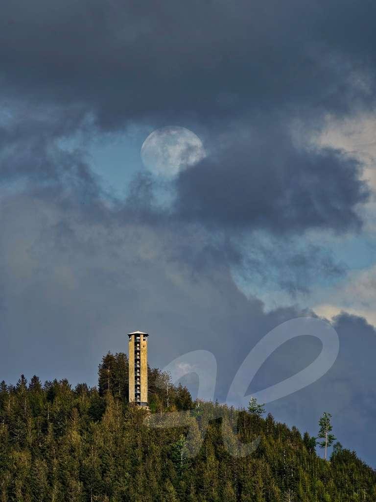 Buchkopfturm Mondaufgang Zufluchtstrasse 26 km