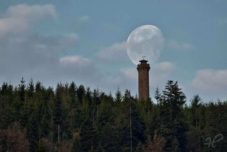 Moosturm mit Mond