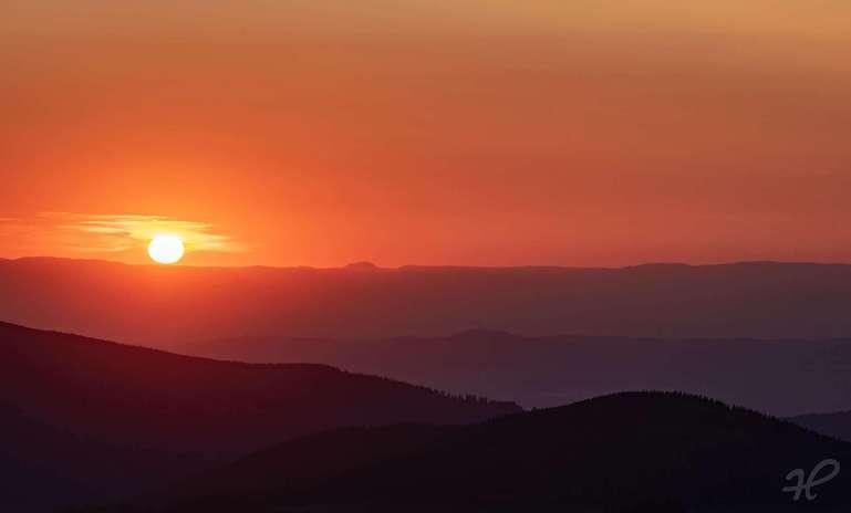 Sonnenuntergang vom Feldberg aus