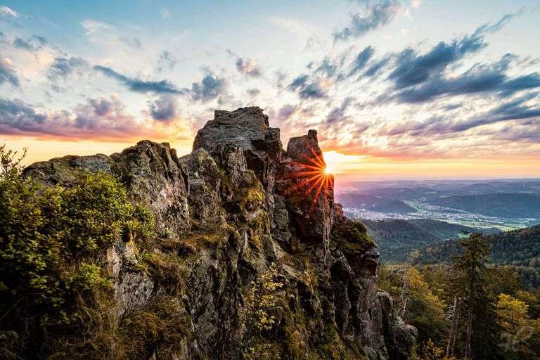 Sonnenuntergang am Kandelfelsen