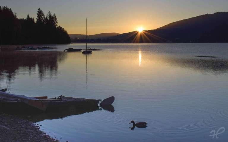 Sonnenaufgang am Titisee