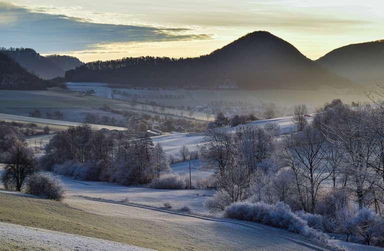 Winterliche Morgenstimmung im Oberen Filstal bei Reichenbach i.T.