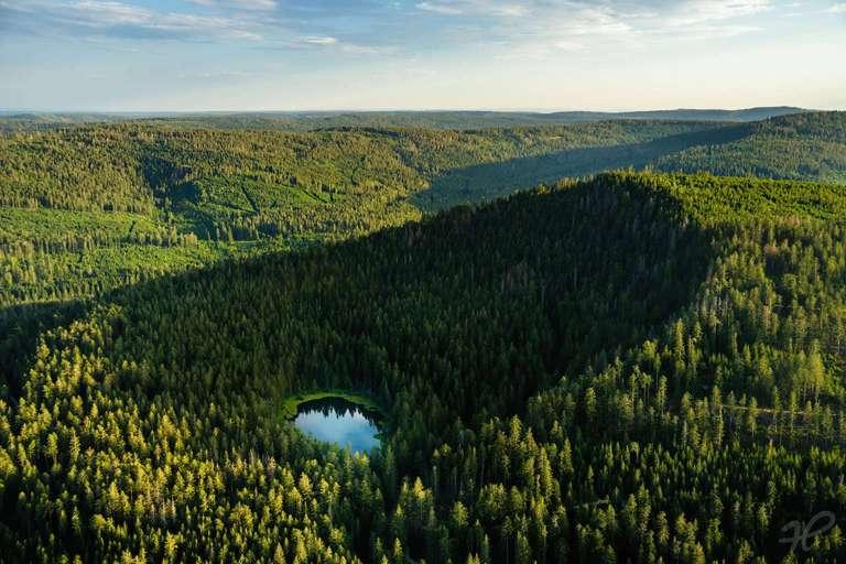Herrenwieser See aus der Luft