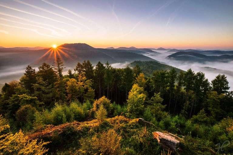 Kirschfels Sonnenaufgang