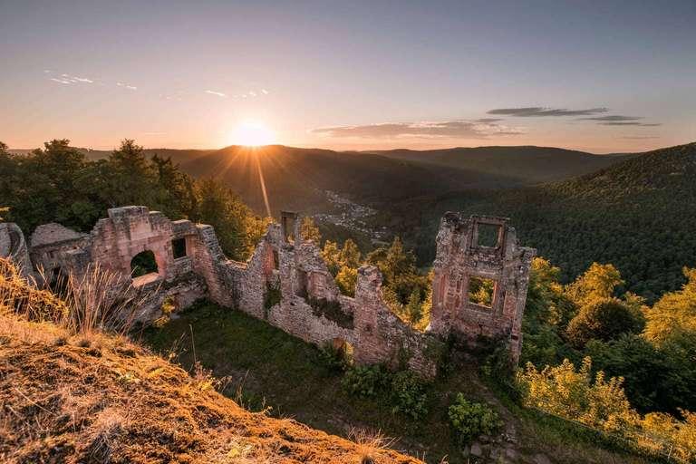 Burg Neuscharfeneck - Sonnenuntergang