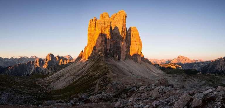 Drei Zinnen Sonnenaufgang Panorama