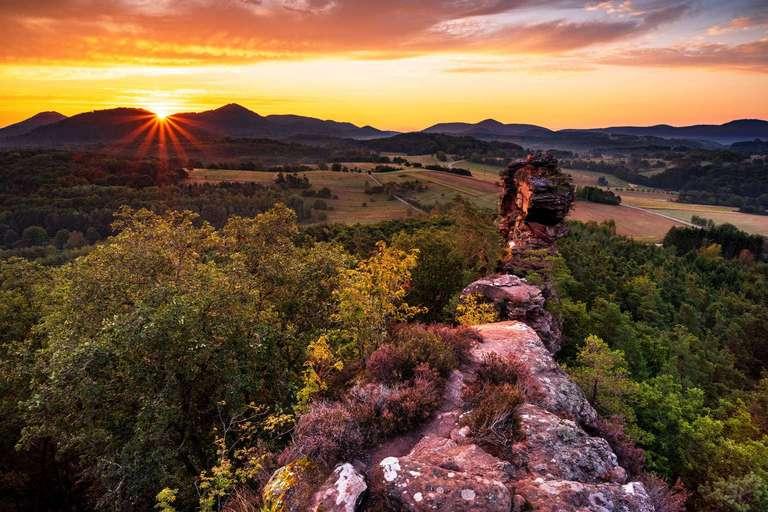 Geiersteine Sonnenaufgang