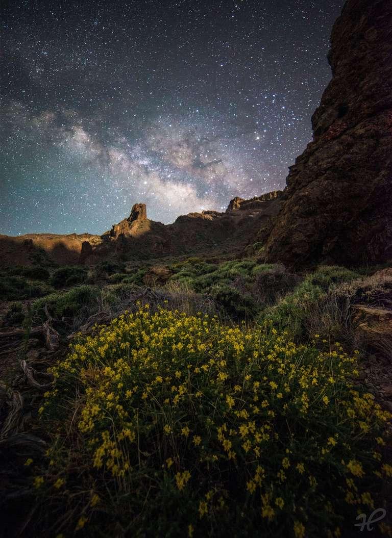 Milchstraße über dem Teide Nationalpark