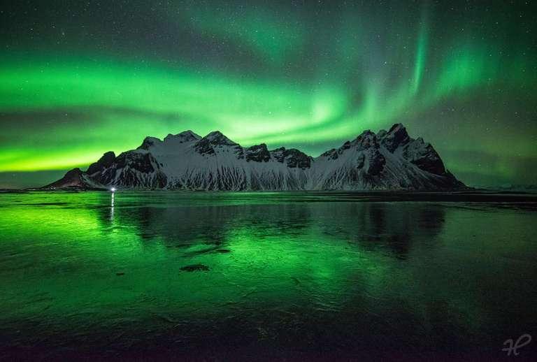 Polarlicht über Stokksnes