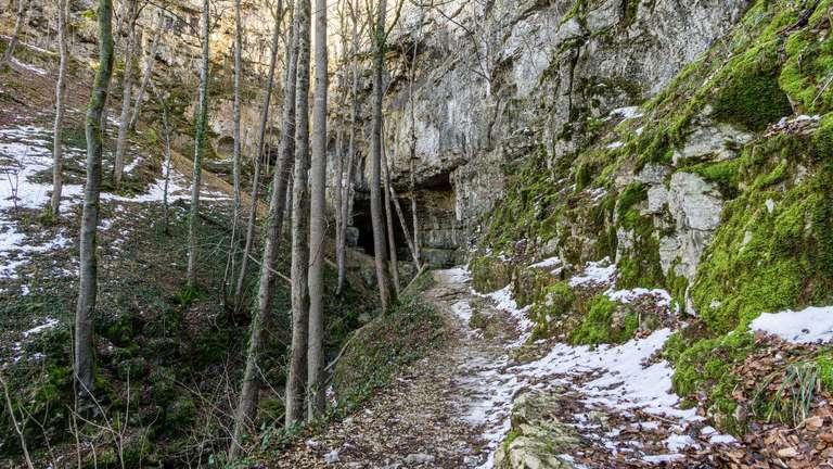 Falkensteiner Höhle - Zugang