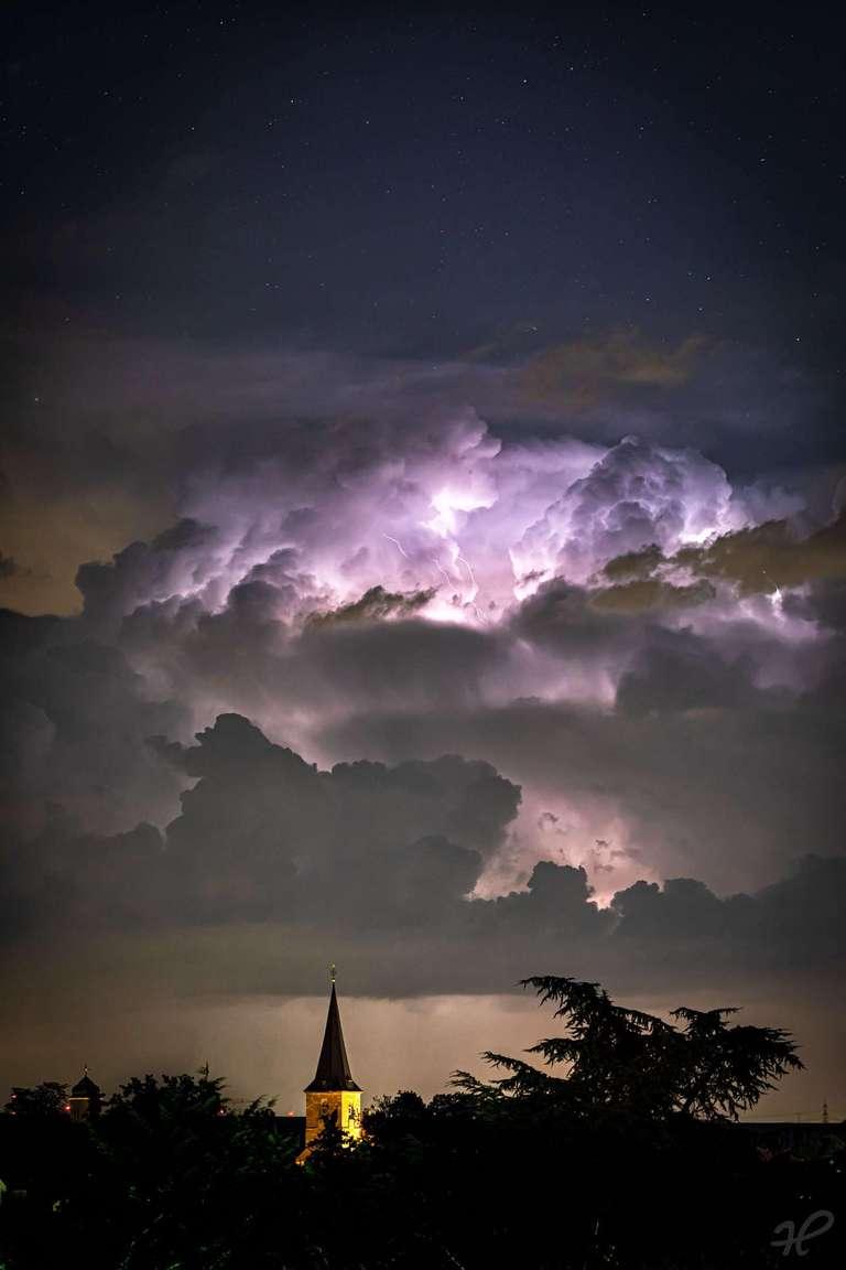 Wetterleuchten in der Pfalz