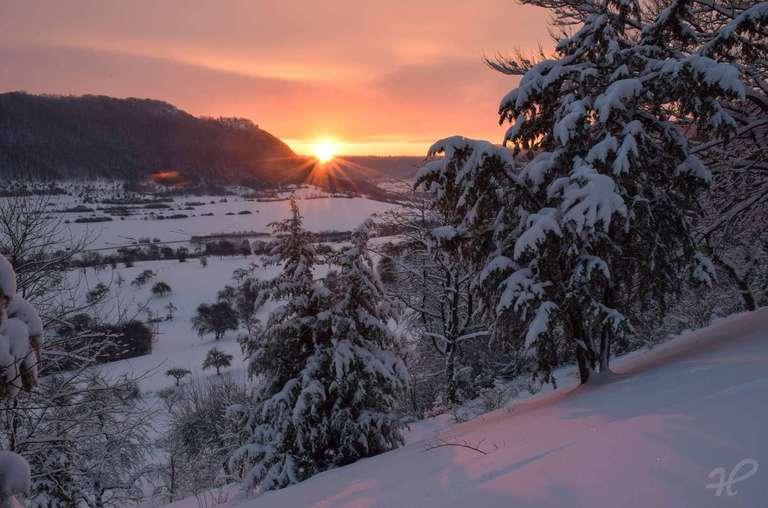 Sonnenaufgang im Oberen Filstal