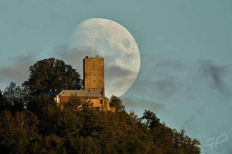 Mondaufgang hinter der Yburg