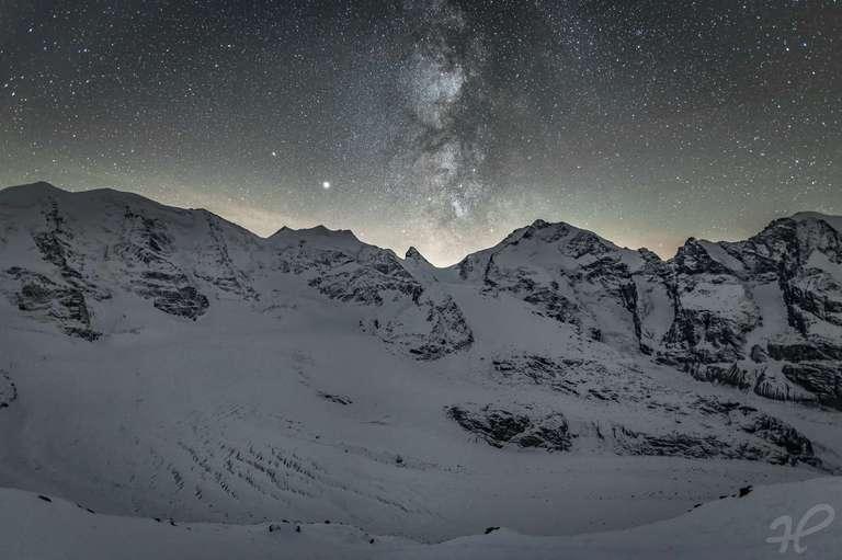 Gletscher unter Sternen