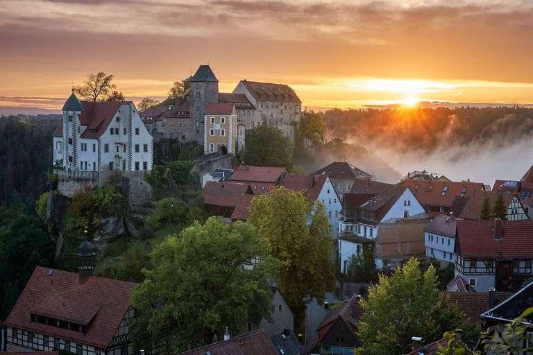 Hohnstein mit Sonnenuntergang