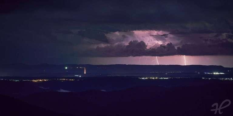 Blitze über Rottweil