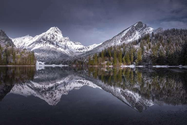Spiegelung am Bergsee