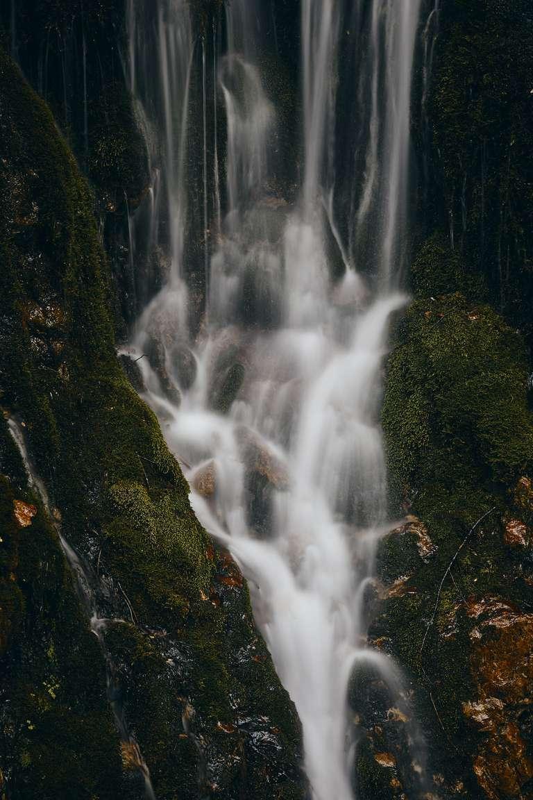 Wasserfall in einer Klamm im Berchtesgadener Land
