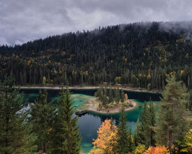 Blick auf den Caumasee, Graubünden